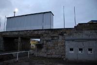 Rückseite des Bruno-Plache-Stadions in Leipzig Probstheida