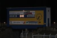Anzeigetafel im Bruno-Plache-Stadion in Leipzig Probstheida