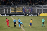 Kurz vor Anpfiff der Oberliga-Partie 1. FC Lok Leipzig - Rot-Weiß Erfurt II, 2011/12