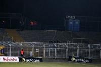 Spärlich gefüllter Gästeblock beim Spiel 1. FC Lok Leipzig - Rot-Weiß Erfurt II