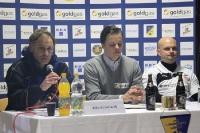 Willi Kronhardt und Piet Schönberg auf der Pressekonferenz