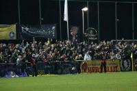 Gute Stimmung: Fans des 1. FC Lokomotive Leipzig zu Gast beim FSV Luckenwalde 63