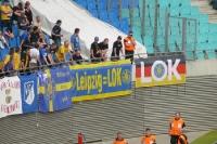 Kurve des 1. FC Lok beim Stadtduell bei RB Leipzig