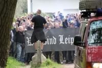 Marsch des 1. FC Lok Leipzig in Markranstädt