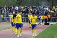 Spieler des 1. FC Lok bei den Fans