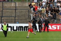 Spielunterbrechung bei Babelsberg 03 vs. 1. FC Lok Leipzig