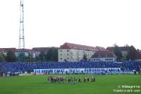 Blaue Wand: 3.000 Magdeburger Ultras und Fans in Halle