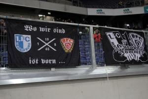 BFC Dynamo Magdeburg Zaunfahnen