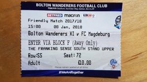 Bolton Wanderers vs. 1. FC Magdeburg