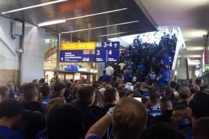 FCM-Fans vor dem Spiel bei Union