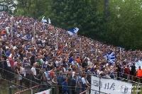 Fans und Ultras des 1. FC Magdeburg beim 1. FC Union Berlin