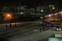 Großes Polizeiaufgebot beim Magdeburger Gastspiel bei Hertha BSC II im Jahn-Sportpark
