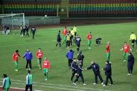 Faire Gesten nach dem Spiel Hertha BSC II - 1. FC Magdeburg