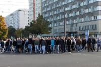 Fans des 1. FC Magdeburg in zivil auf der Fandemo 2010 in Berlin