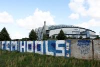 Graffiti an einer Mauer: FCM Hools