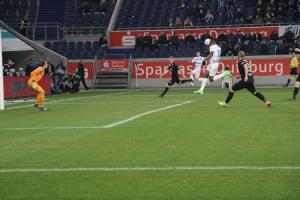 Spielszenen MSV gegen FC Magdeburg 2017