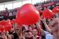 Fans des 1. FC Nürnberg beim Auswärtsspiel bei Hertha BSC im Berliner Olympiastadion, 2011/12