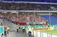 Support Nürnberg und Schalke Fans in Duisburg