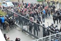 Zwischenfälle beim Spiel Eintracht Frankfurt gegen 1. FC Nürnberg