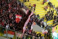 Union-Fans auf dem Tivoli in Aachen