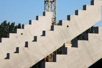 Baustelle: Die neue Tribüne im Stadion An der Alten Försterei