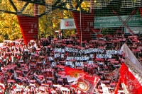 Botschaft der Union-Fans beim Spiel gegen FSV Frankfurt