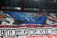 Choreographie der Ultras des 1. FC Union Berlin