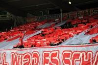 Choreographie der Union-Fans in Braunschweig