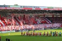 Choreographie der Waldseite beim Spiel gegen Dynamo Dresden