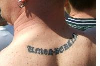 Tattoo am Nacken: Union Berlin