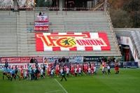Einlaufen der Teams beim Spiel Union Berlin gegen VfR Aalen