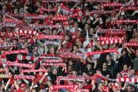 Fans des 1. FC Union Berlin gegen Jahn Regensburg
