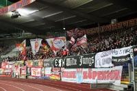 Fans des 1. FC Union Berlin im Eintracht-Stadion
