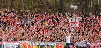 Fans des 1. FC Union Berlin in Aue