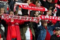Fans des 1. FC Union Berlin in der Alten Försterei