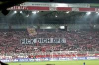 Spruchband beim Spiel Union Berlin - Eintracht Frankfurt: