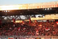 Fahnenmeer beim Nordostduell 1. FC Union Berlin - FC Erzgebirge Aue