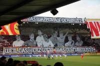 Choreographie der Ultras des 1. FC Union Berlin beim Spiel gegen Braunschweig