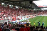 Fans des 1. FC Union beim Spiel gegen Hansa Rostock