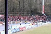 Fans und Ultras des 1. FC Union Berlin bei Erzgebirge Aue