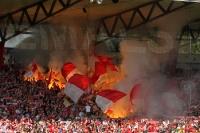 Pyrotechnik vor der Partie 1. FC Union Berlin - FC Ingolstadt 04, 11. 09. 2011