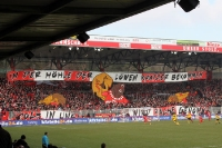 Choreographie der Ultras des 1. FC Union Berlin (Wuhlesyndikat) gegen Dynamo Dresden, 2012