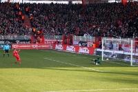 Elfmeter! Führungstreffer der Eisernen gegen die SG Dynamo Dresden am 11. Februar 2012