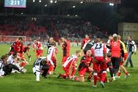 Jubel der Union-Spieler nach dem 2:1 gegen Köln