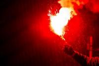Pyro beim Jubiläumsspiel in der AF