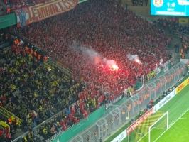 Pyroshow Union Berlin in Dortmund Oktober 2016