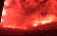 Pyroshow zur Eröffnung der neuen Haupttribüne