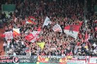 RWE gegen Union Berlin: Gute Stimmung im Block der Eisernen