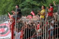 Freude bei den Union-Fans im Gästeblock
