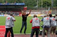 Große Freude bei Union-Trainer Uwe Neuhaus